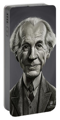 Portable Battery Charger featuring the digital art Celebrity Sunday - Frank Lloyd Wright by Rob Snow