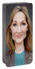 Portable Battery Charger featuring the digital art Celebrity Sunday - J.k.rowling by Rob Snow