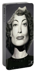 Portable Battery Charger featuring the digital art Celebrity Sunday - Joan Crawford by Rob Snow
