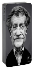 Portable Battery Charger featuring the digital art Celebrity Sunday - Kurt Vonnegut by Rob Snow