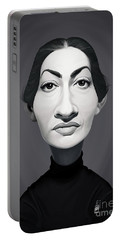 Portable Battery Charger featuring the digital art Celebrity Sunday - Maria Callas by Rob Snow