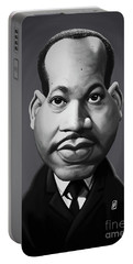 Portable Battery Charger featuring the digital art Celebrity Sunday - Martin Luther King by Rob Snow