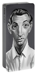 Portable Battery Charger featuring the digital art Celebrity Sunday - Robert Mitchum by Rob Snow