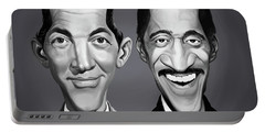 Portable Battery Charger featuring the digital art Celebrity Sunday - Sammy Davis Jnr And Dean Martin by Rob Snow