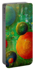 Celestal Planets Portable Battery Charger by Tamyra Crossley