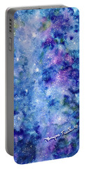 Portable Battery Charger featuring the painting Celestial Dreams by Monique Faella