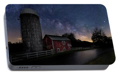 Portable Battery Charger featuring the photograph Celestial Farm by Bill Wakeley