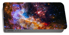 Celestial Fireworks Portable Battery Charger by Marco Oliveira