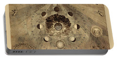 Celestial Map 1710b Portable Battery Charger by Andrew Fare
