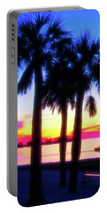 Portable Battery Charger featuring the photograph Celestial Skies Beach Sunset by Aimee L Maher Photography and Art Visit ALMGallerydotcom