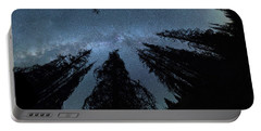 Portable Battery Charger featuring the photograph Celestial Starlight In The Forest Near  Lake Irene Colorado by OLena Art Brand