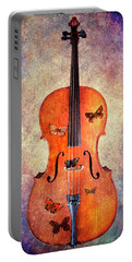 Cello With Butterflies Portable Battery Charger