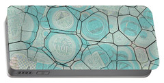 Portable Battery Charger featuring the digital art Cellules - 04c1 by Variance Collections