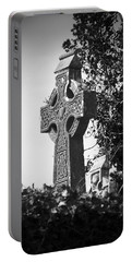 Celtic Cross At Fuerty Cemetery Roscommon Ireland Portable Battery Charger