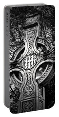 Celtic Cross Detail Killarney Ireland Portable Battery Charger