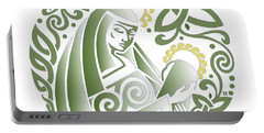 Celtic Green Madonna Portable Battery Charger