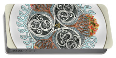Celtic Inspired Button Portable Battery Charger