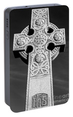 Portable Battery Charger featuring the photograph Celtic Stone Cross At Sunset by Gary Whitton