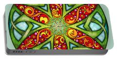 Celtic Summer Mandala Portable Battery Charger