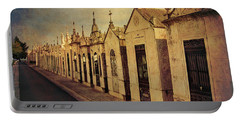 Portable Battery Charger featuring the photograph Cemetary In Santarem Portugal by Menega Sabidussi