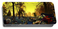 Cemetery In Feast Of The Dead Portable Battery Charger