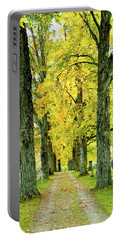 Portable Battery Charger featuring the photograph Cemetery Lane by Greg Fortier