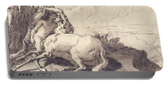 Centaur Embracing A Satyress Portable Battery Charger