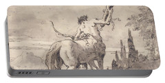 Centaur Holding Up A Quiver Portable Battery Charger