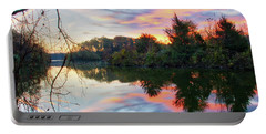 Portable Battery Charger featuring the photograph Centennial Lake At Sunrise by Mark Dodd