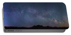 Center Of The Milky Way Over The Badlands Portable Battery Charger