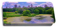 Central Park And Lake, Manhattan Ny Portable Battery Charger