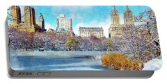 Central Park In Winter Portable Battery Charger by Kai Saarto
