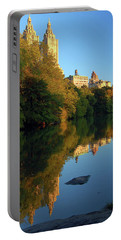 Central Park Refelctions Portable Battery Charger by James Kirkikis