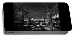 Portable Battery Charger featuring the photograph Centro Ybor Bw by Marvin Spates