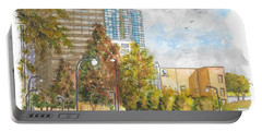 Century Park East And Santa Monica Blvd. In Century City, California Portable Battery Charger by Carlos G Groppa