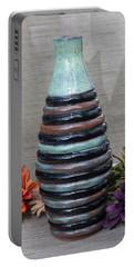 Ceramic Coil Vase Portable Battery Charger
