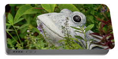 Portable Battery Charger featuring the photograph Ceramic Frog by John Black