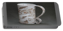 Ceramic Marbled Clay Cup Portable Battery Charger by Suzanne Gaff