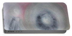 Portable Battery Charger featuring the painting Certainty And Uncertainty by Min Zou