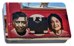 Portable Battery Charger featuring the photograph Cesar Chavez And Dolores Huerta Mural - Utah by Gary Whitton