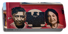 Cesar Chavez And Dolores Huerta Mural - Utah Portable Battery Charger