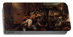 Cesari Giuseppe St Clare With The Scene Of The Siege Of Assisi Portable Battery Charger