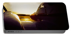 Cessna 421c Golden Eagle IIi Silhouette Portable Battery Charger by Greg Reed