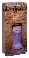 Chaco Canyon - Pueblo Bonito Doorways - New Mexico Portable Battery Charger