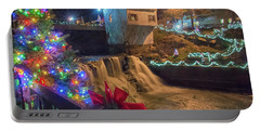 Chagrin Falls At Christmas Portable Battery Charger