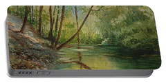 Chagrin River In Spring Portable Battery Charger