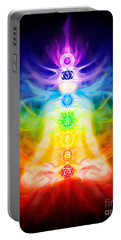 Chakras And Energy Flow On Human Body Portable Battery Charger