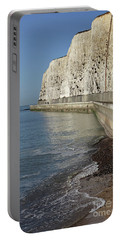 Chalk Cliffs At Peacehaven East Sussex England Uk Portable Battery Charger
