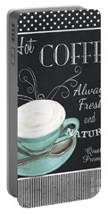 Chalkboard Retro Coffee Shop 1 Portable Battery Charger
