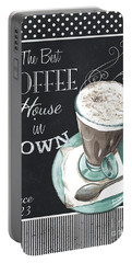 Chalkboard Retro Coffee Shop 2 Portable Battery Charger